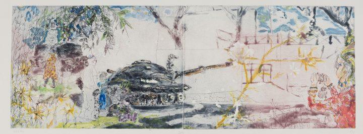 מוזיאון פתח תקוה לאמנות, מתוך פיוצ'ר ליין טורס, 2013, מונוטיפ, תצריב קו, אקווטינטה