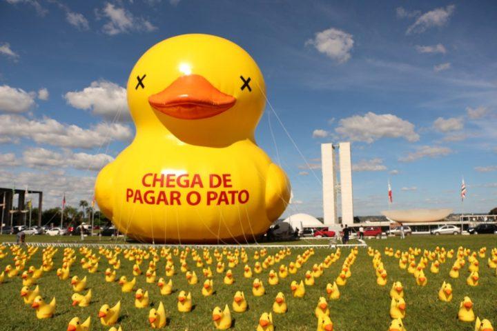 מחאה נגד הנשיאה בברזיל
