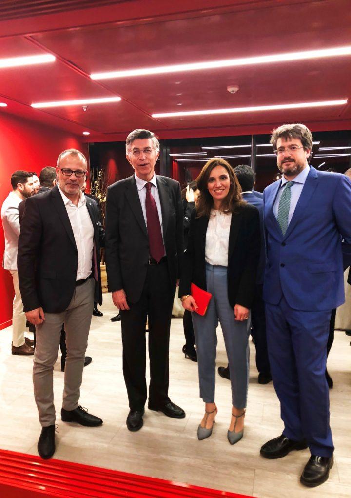 מימין: חוזה מריה, חני חזק, מנואל גומז אסבו, אמיר חזק
