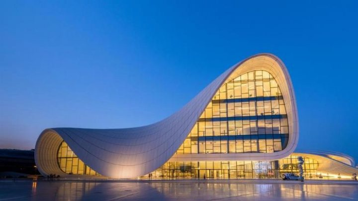 Heydar Aliyev Center in Baku, Azerbaijan by Zaha Hadid