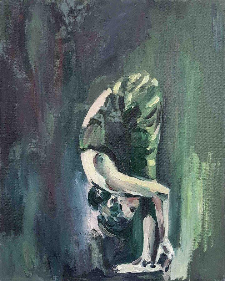 אורלי מיברג, הפוכה, שמן על בד, 2015