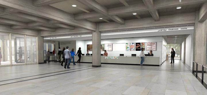 הדמיית הקופות במיקומן החדש, המעצבת רות עירון ומשרד גריל אופנהיים
