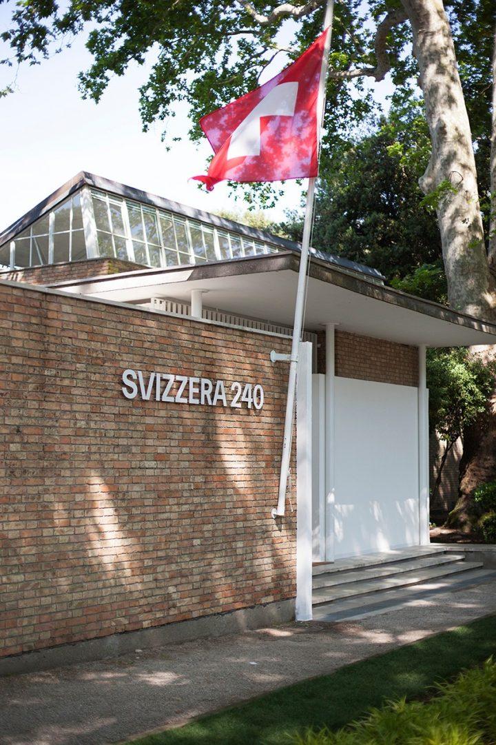הביתן השוויצרי, מראה מבחוץ