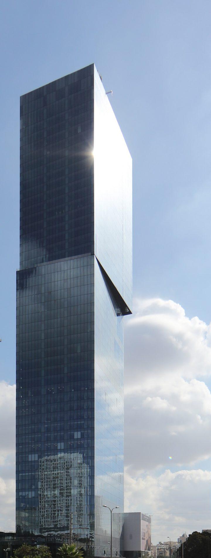 מגדלי המשרדים בפרויקט מידטאון. תכנון: הפרויקט משה צור אדריכלים ובוני ערים