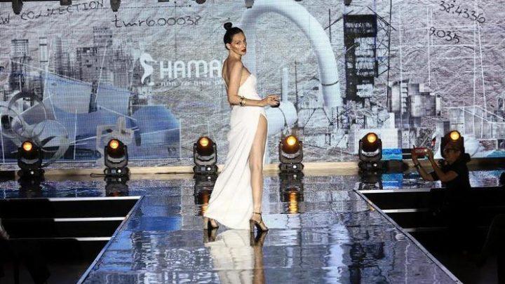 יעל רייך, עיצוב השמלה - שאדי עבד בהשראת עבודותיו של אדריכל אילן פיבקו