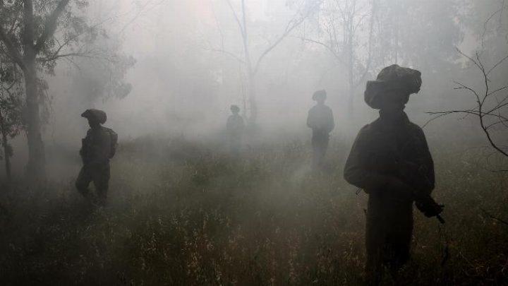 לוחמי חטיבת גולני במהלך פעילות בעוטף עזה, אפריל 2011