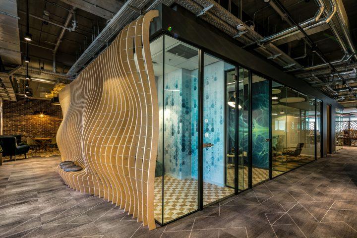 משרדי ג'נרל אלקטריק, פתיחות ברמות שונות, סתר אדריכלים