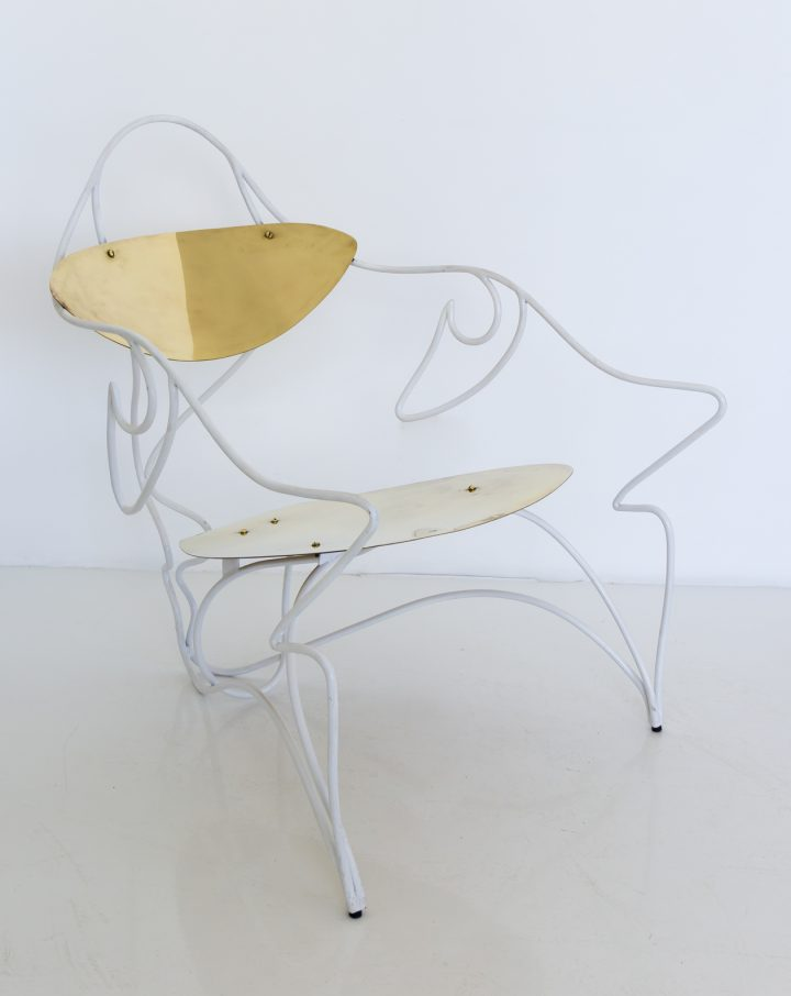 כסא מתכת ופליז