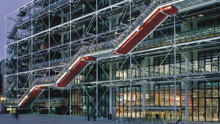 מרכז פומפידו, מהמבנים המפורסמים של אדריכל רנזו פיאנו יחד עם אדריכל ריצ'רד רוג'רס