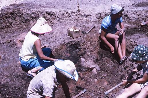 צילומים מאתר החפירה בג'סי כהן, 1965