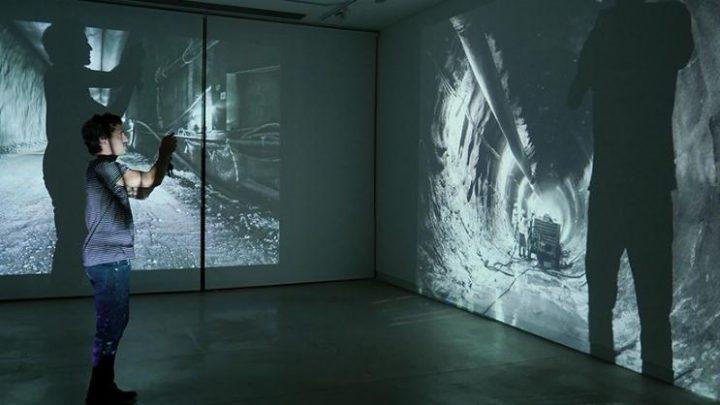 מיצב וידאו מתוך תערוכה של תמר לדרברג שתוצג בקריית המלאכה