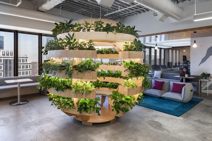 עיצוב ירוק בחללי עבודה