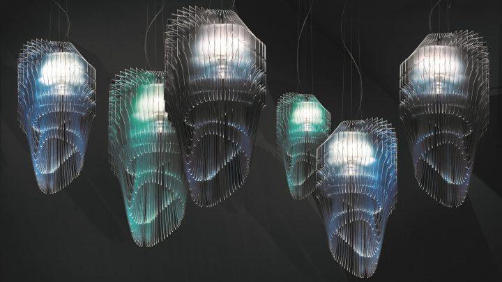מתוך התערוכה, קולקציית גופי תאורה Avia