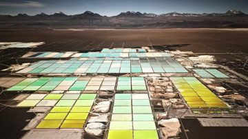 Lithium Mines #1, Salt Flats, Atacama Desert, Chile, by Edward Burtynsky