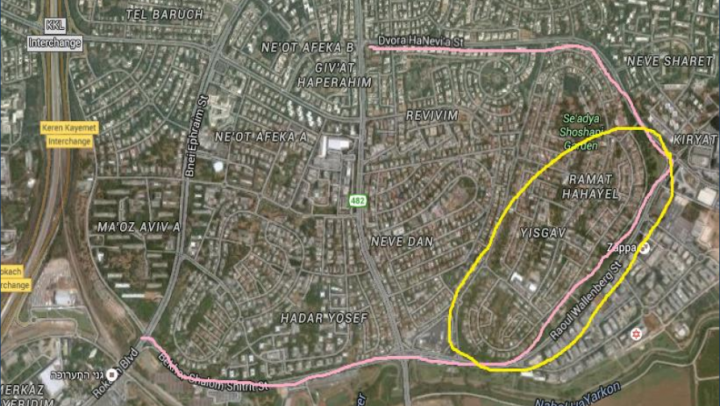 תכנית שבילי האופניים בתל אביב והסביבה