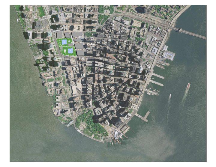 מיקום אתר ההנצחה בעיר ניו יורק