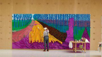 David Hockney painting, מתוך תערוכות על המסך
