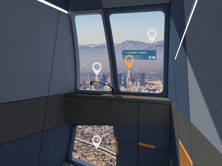 חלון חכם בשירותי המטוס המודולרי