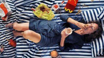 מקדונלדס, ציור ריאליסטי, מצעי פסים, Happy Meal