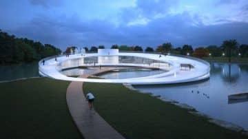 הוכרזו זוכי התחרות לתכנון הבית באגם בפארק הלאומי ברמת גן