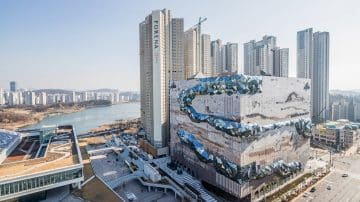 מעטפת קשיחה ונחש חושני: הבניין המדובר של OMA בדרום קוריאה