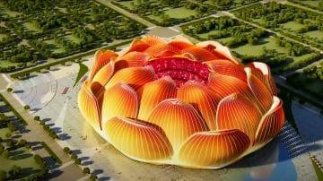 הפרח בגני: אצטדיון הכדורגל הגדול בעולם תוכנן בצורת לוטוס