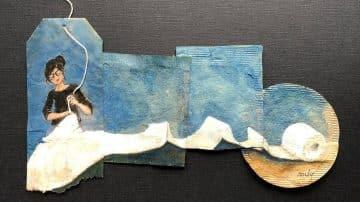 האמנית הזאת מאיירת יומן על שקיות תה