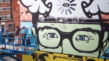 עשרות קירות גרפיטי חדשים הופכים את לונדון לקנבס אחד גדול