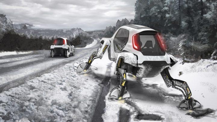 רכב קונספט, יונדאי, מכונית מהלכת, רכב בשלג