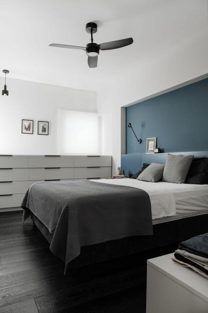 עיצוב חדר שינה, קיר כוח, קיר טורקיז