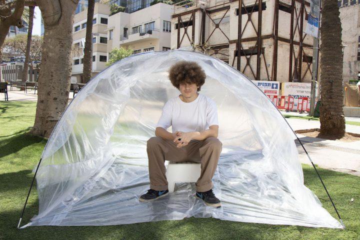 אוהלים ברוטשילד, מיצב אמנותי