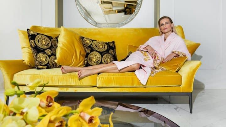 ורסצ'ה, ורסצ'ה לבית, ספה צהובה, Versace
