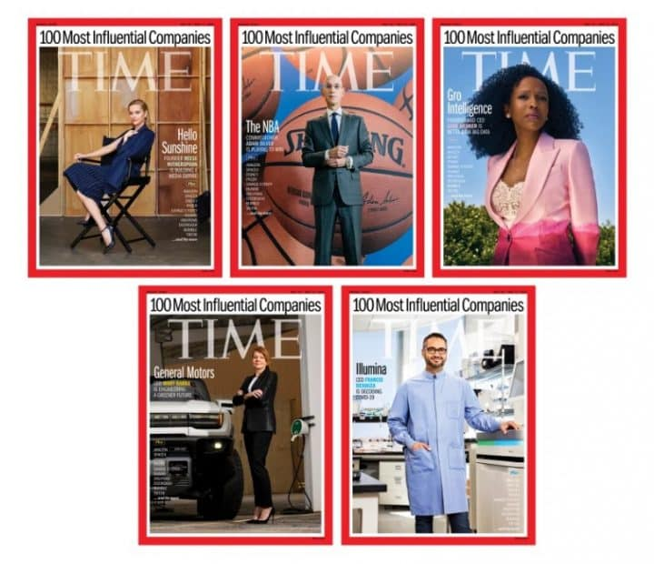 מגזין טיים, 10 חברות משפיעות, חברות מובילות, טרנדים