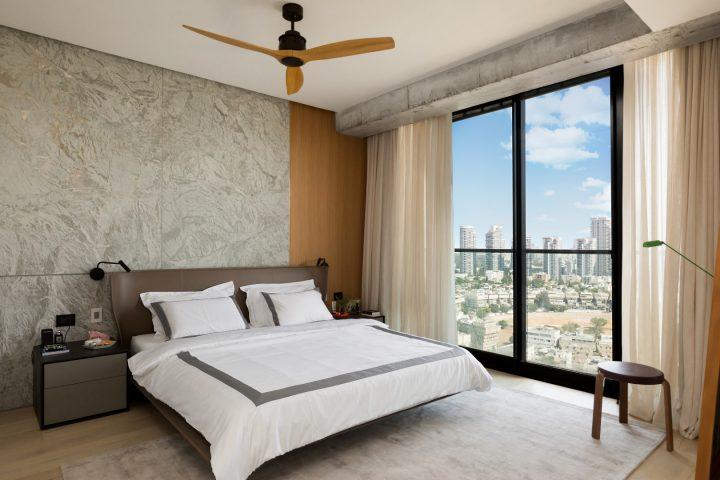 אלברט, אלברט של אסי עיצוב חדר שינה, חדר שינה בדירה בל אביב