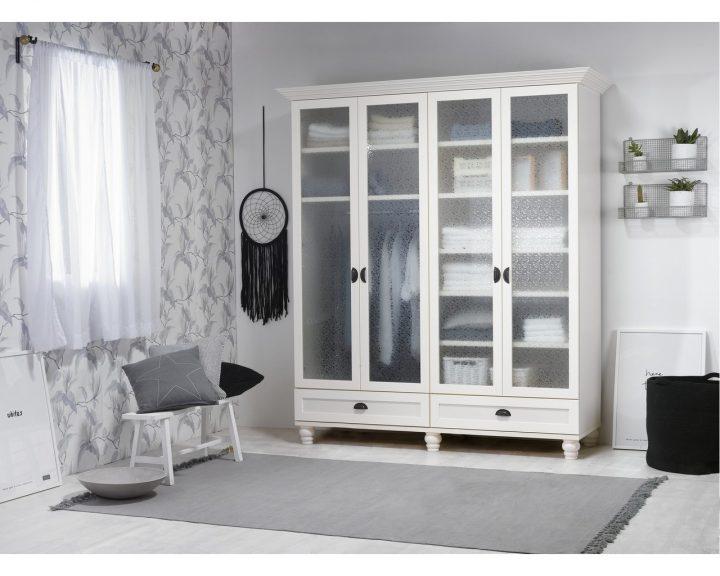 עיצוב ארונות לבנים, עיצוב חדר שינה, עיצוב חדר לבן