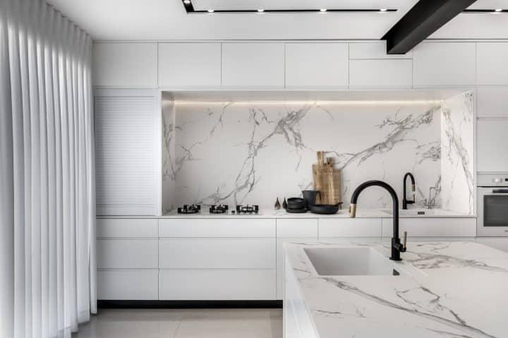 עיצוב מטבח, עיצוב מטבח לבן, מטבח לבן