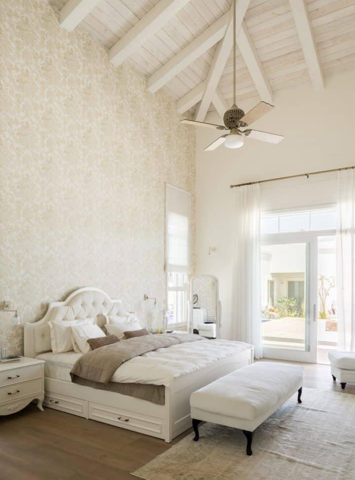 עיצוב חדרי שינה, עיצוב חדר שינה, חדר שינה לבן