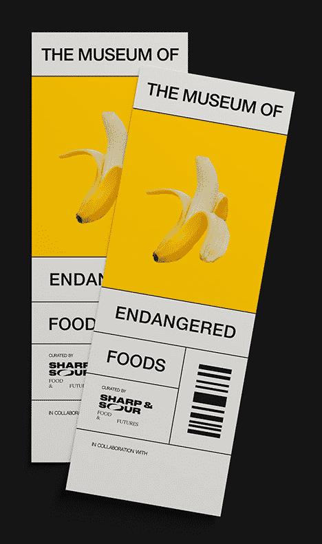 מוזיאון, מזונות, סכנת הכחדה, בננה, כרטיס
