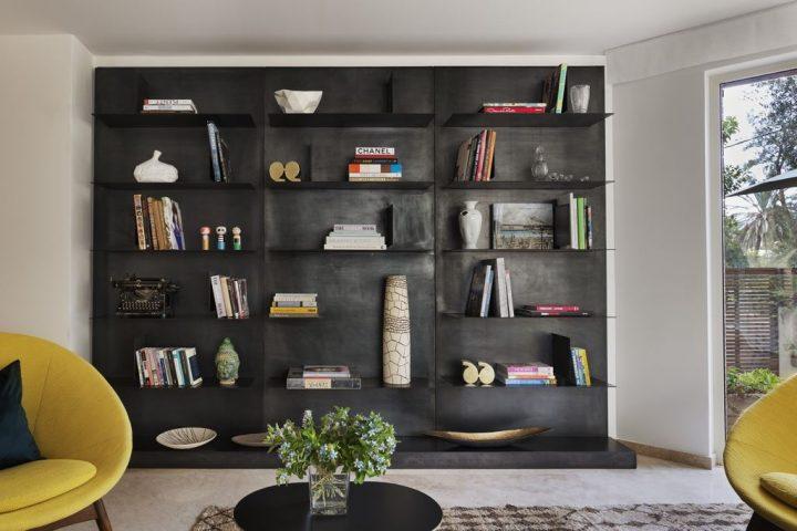 עיצוב סלון, עיצוב ספרייה, ספרייה מעוצבת