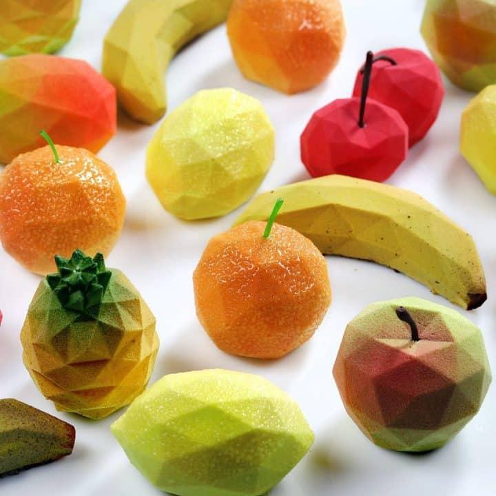 קונדיטוריה, פירות, עיצוב