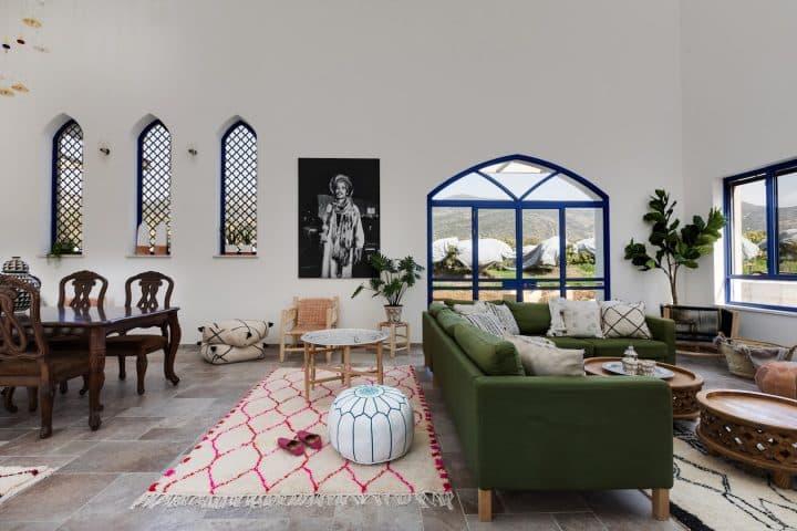 חלונות כחולים, חלונות אוריינטליים, חלונות קליל, עיצוב פנים סלון