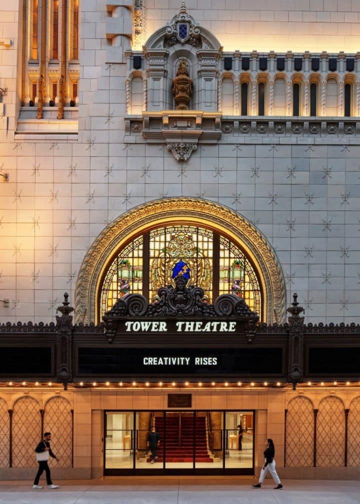 תיאטרון המגדל, חנות, עיצוב, אפל