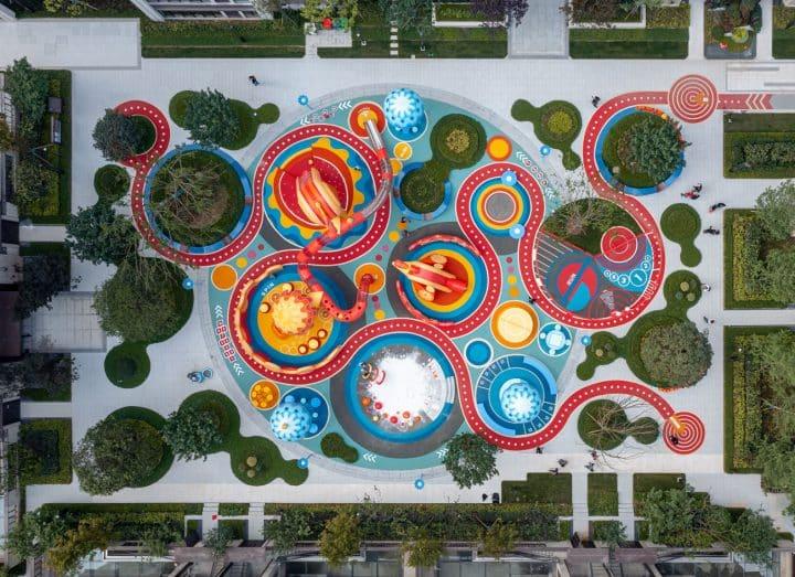 100 אדריכלים, קן, ציפורים, גן שעשועים, מגרש משחקים, מבט על