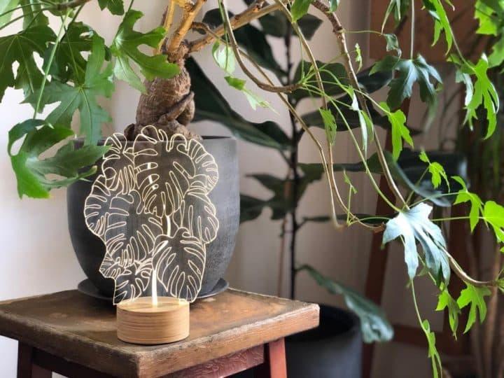 מנורת שולחן, מנורה בצורת עציץ