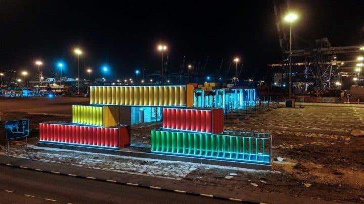 נמל חיפה, סטודנטים לאדריכלות, ויצו חיפה, מכולות, מיצב