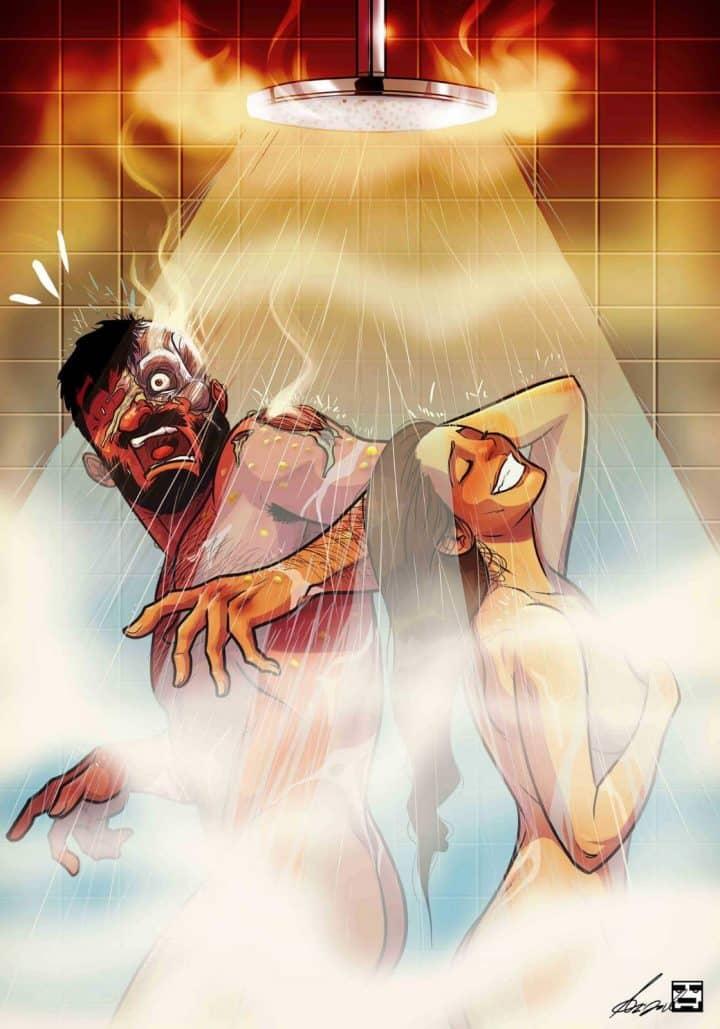 כל כך אנחנו, יהודה ומאיה דביר, קומיקס, איור, זוגיות, מקלחת