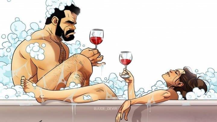 יהודה ומאיה דביר, כל כך אנחנו, קומיקס, אמבטיה